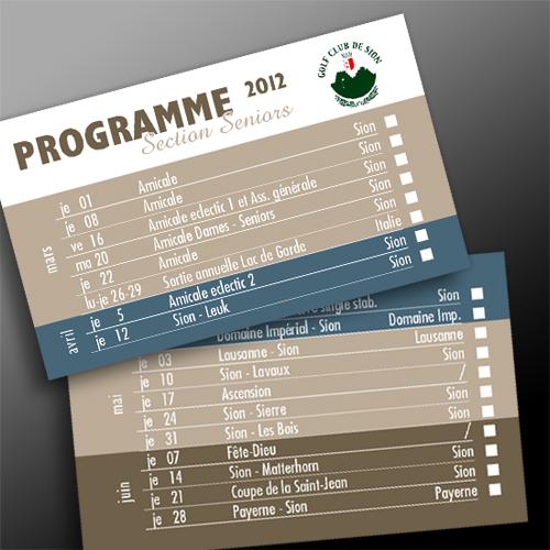 Programme de golf